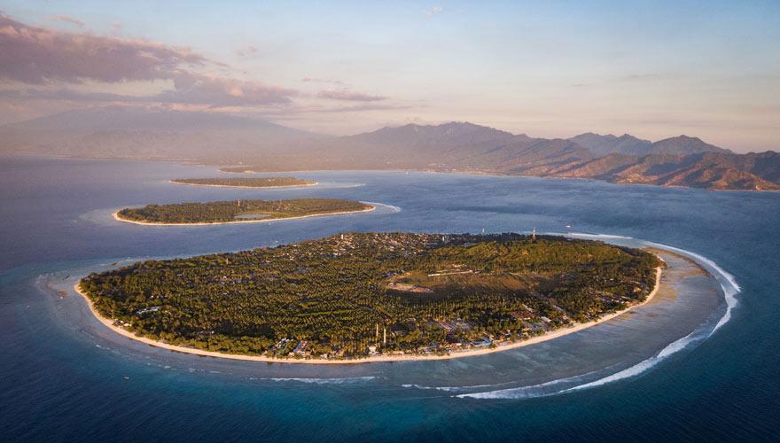Gili Inseln von oben