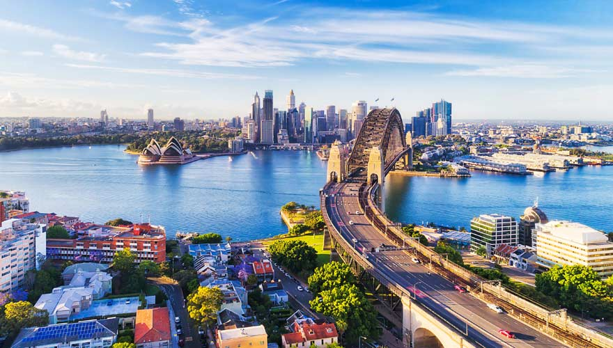 Die Harbour Bridge in Sydney ist eine der schönsten Brücken der Welt