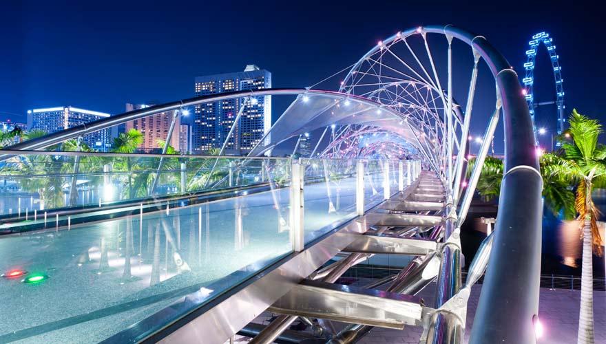 Helix Bridge in Singapur
