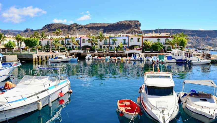 Hafen von Puerto de Mogan auf Gran Canaria