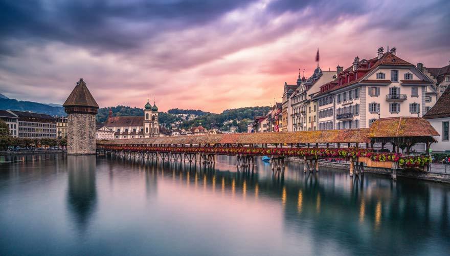 Kapellbrücke in Luzern - eine der schönsten Brücken der Welt