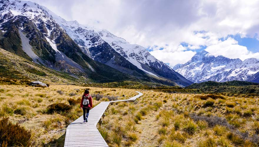 Traumreiseziel Mount Cook Nationalpark in Neuseeland