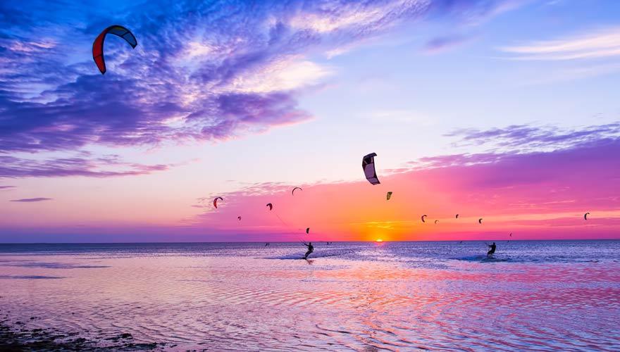 Kiter am Nahai Beach auf Koh Samui