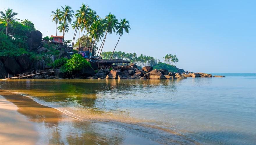Palolem Beach in Goa ist ein Traumreiseziel