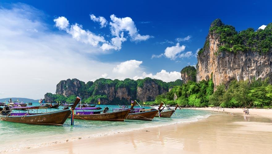 Railay Beach von Ao Nang auf Krabi - ein Traumreiseziel in Thailand