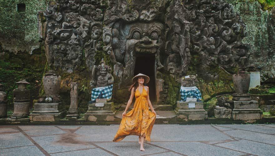 Ubud Sehenswürdigkeit Elefantenhöhle Goa Gajah