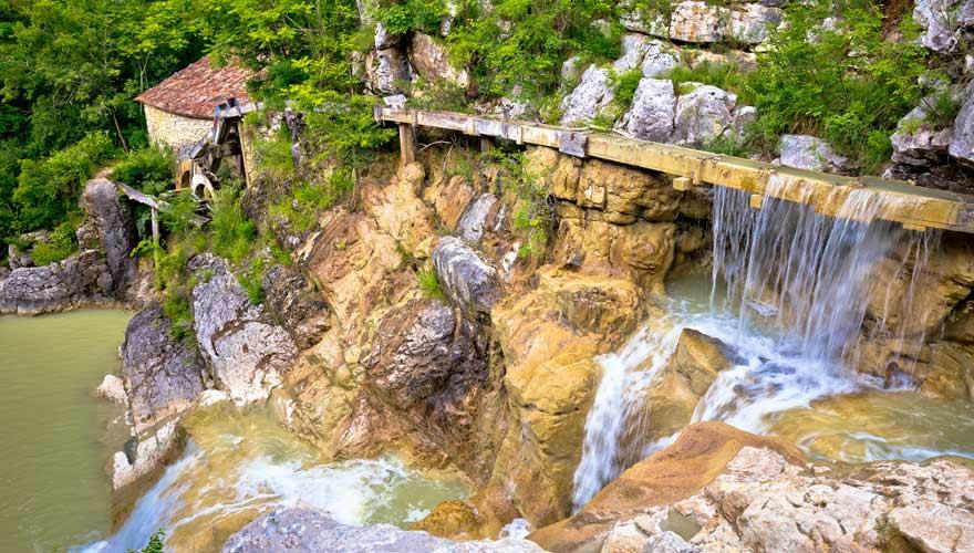 Wanderung zum Slap Kotli in Kroatien