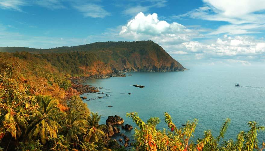 Aussicht auf Goa in Indien