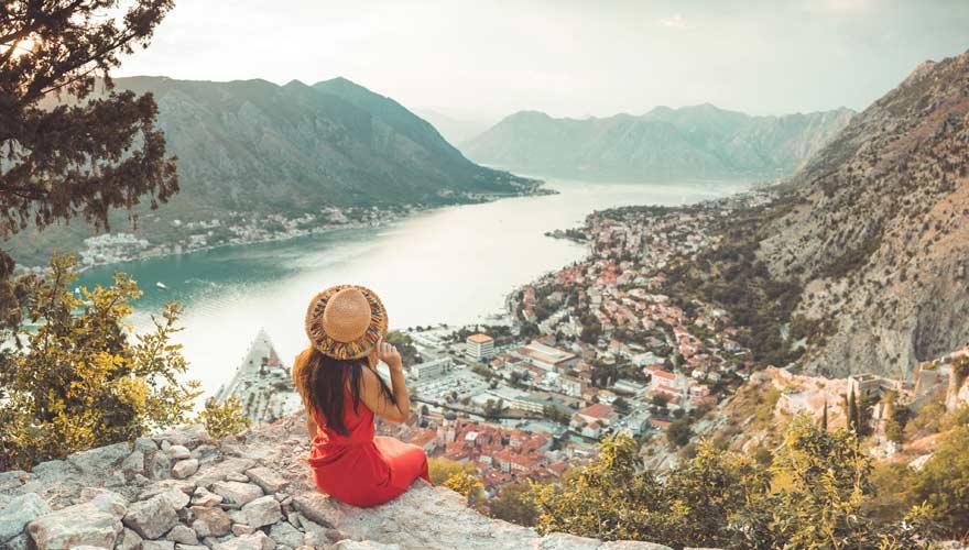 Die Bucht von Kotor in Montenegro ist wunderschön