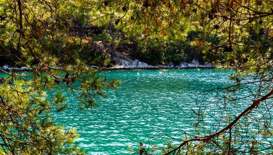 See auf Insel Mljet in Kroatien