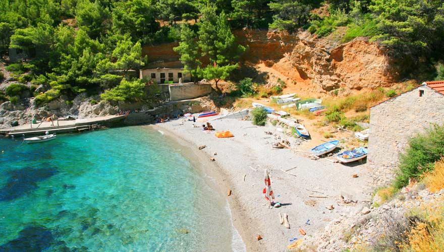 Sutmiholjska Beach auf Mljet in Kroatien