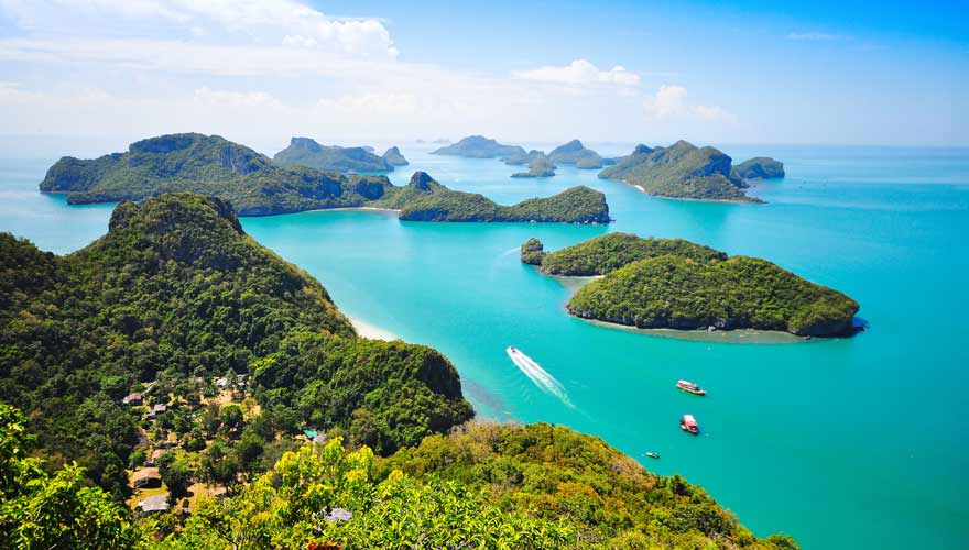 Die Inseln des Mu Ko Ang Thong Nationalparks in Thailand