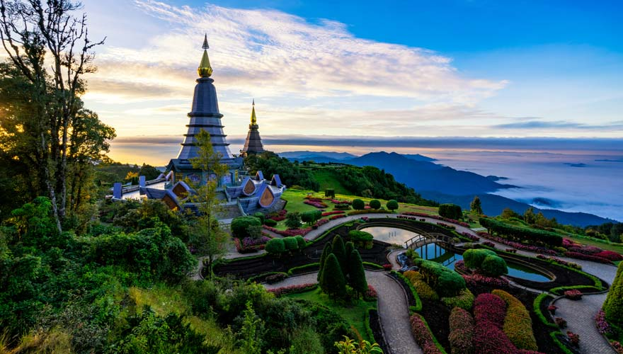 Pagode im Doi Inthanon Nationalpark in Thailand