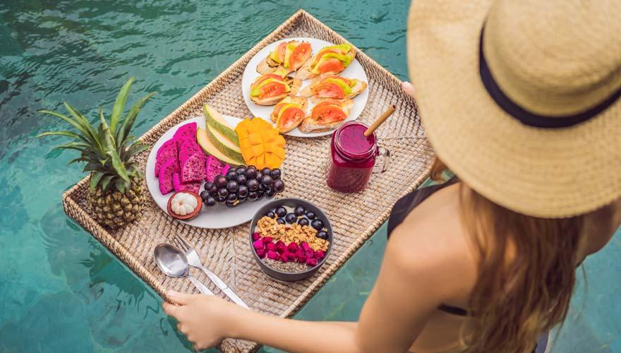 Frischte Früchte auf Bali