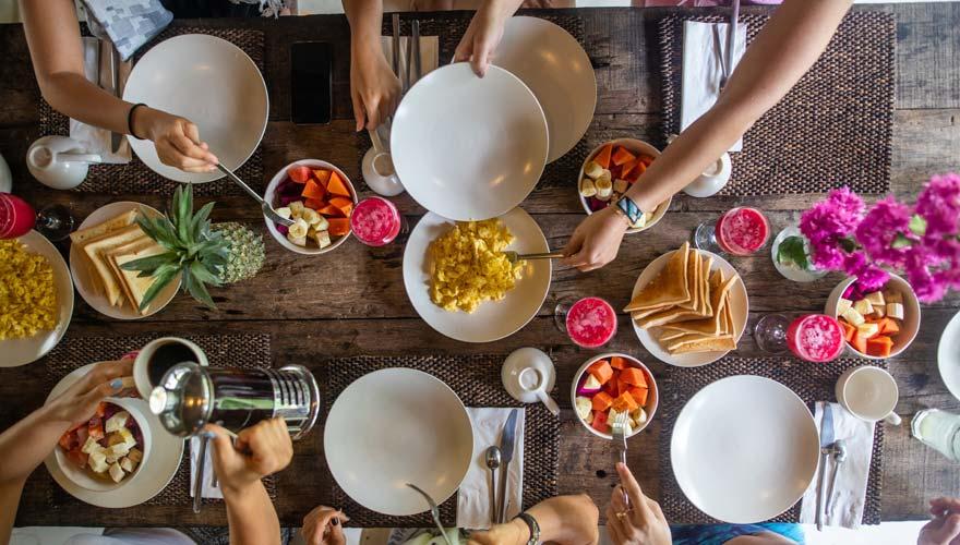 Frühstück auf Bali