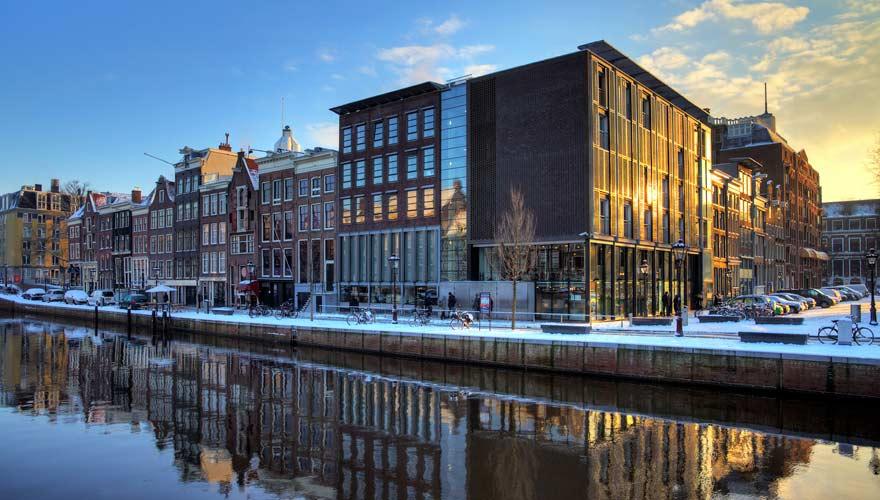 Anne Frank Haus an der Prinsengracht in Amsterdam
