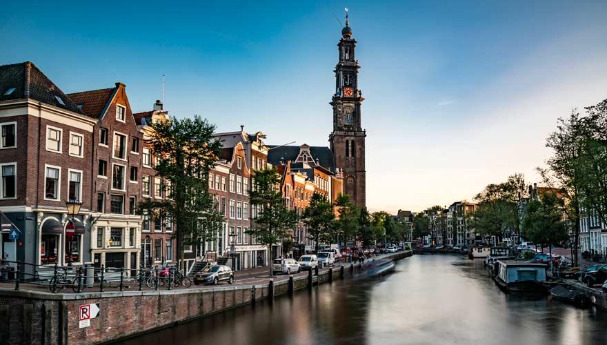 Westerkerk an der Prinsengracht in Amsterdam