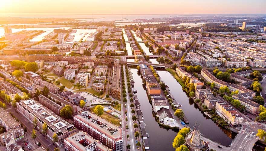 Grachten- und Kanalsystem in Amsterdam