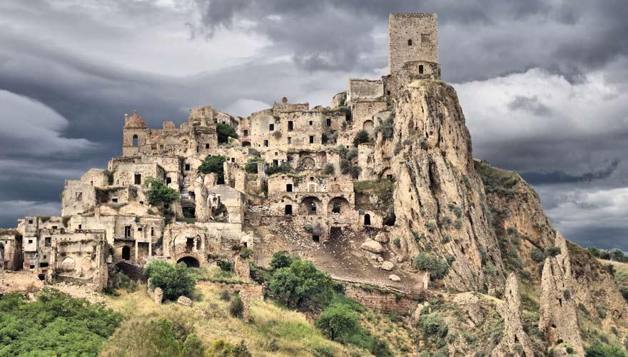Die Geisterstadt Craco in Italien ist ein gruseliger Ort