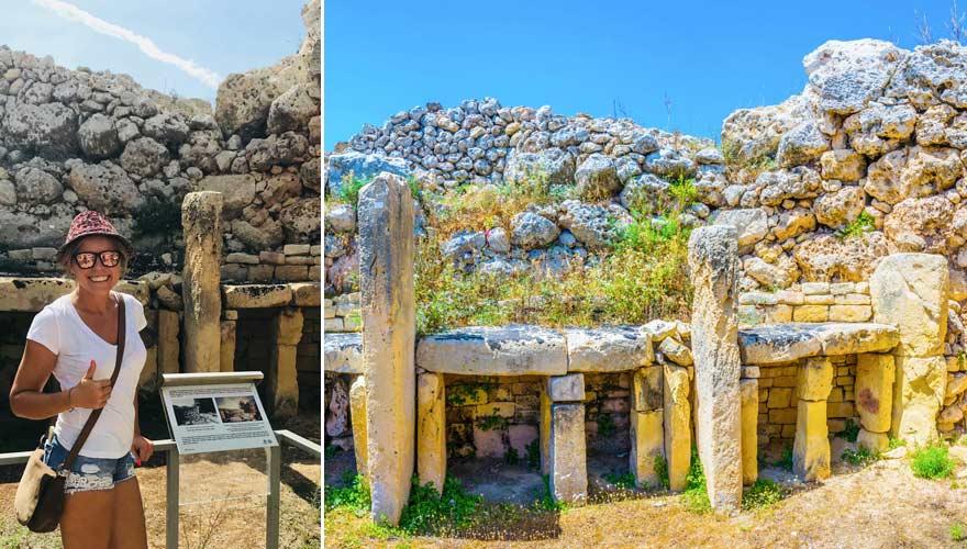 Die Ggantija Tempel auf Gozo sind eine tolle Sehenswürdigkeit