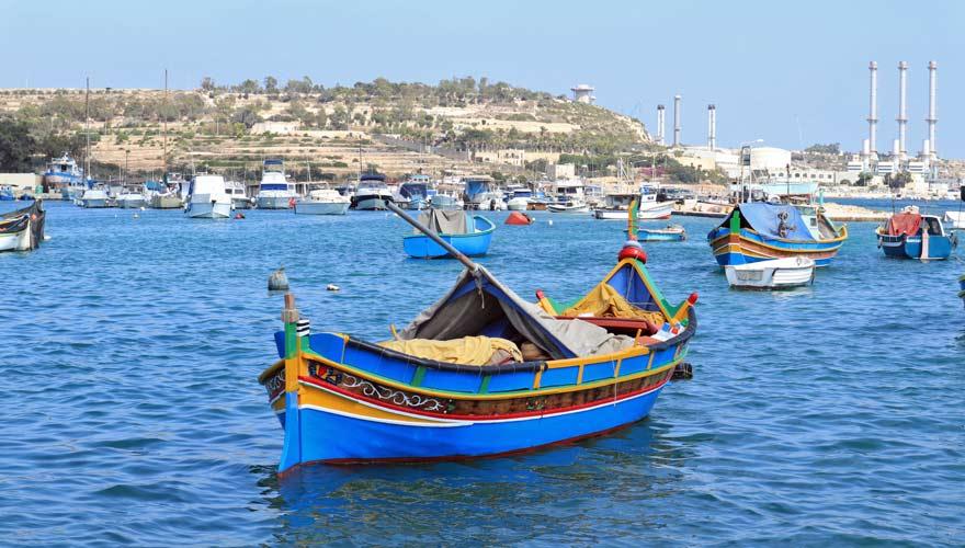 Fischerboot in Marsaxlokk auf Malta