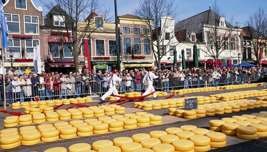 Kästemarkt in Alkmaar in den Niederlanden