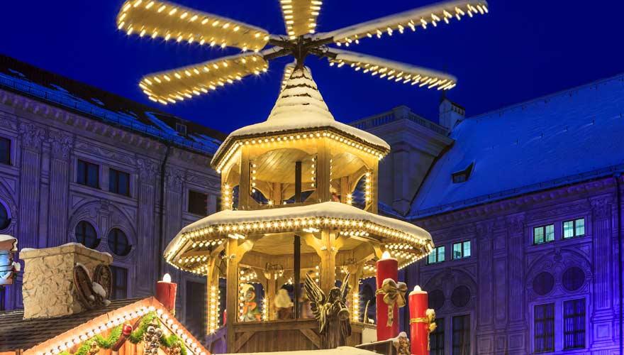 Weihnachtsmarkt in der Residenz München