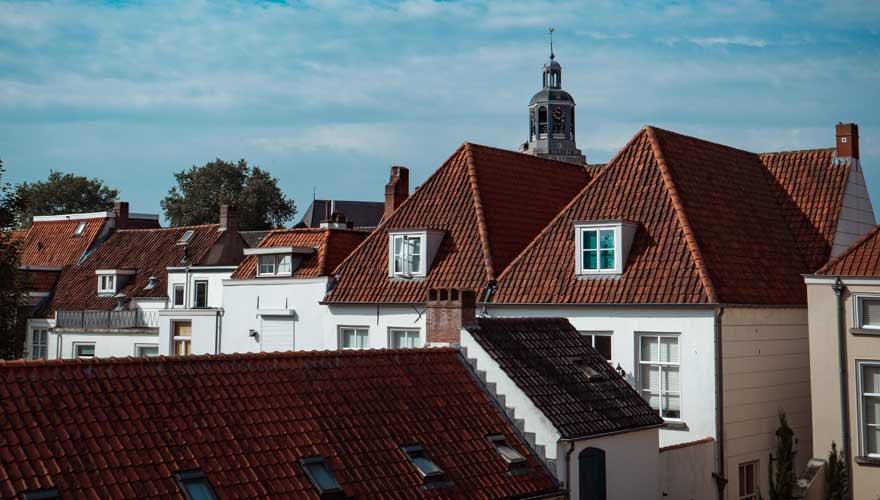 Die Stadt Bergen op Zoom in den Niederlanden
