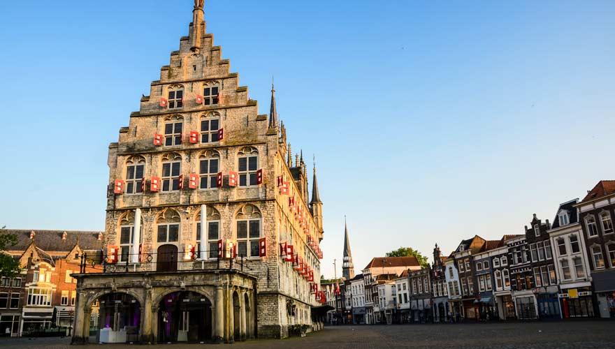 Rathaus in der Stadt Gouda in den Niederlanden