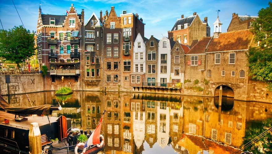Die Stadt Rotterdam in den Niederlanden