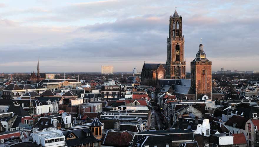 Utrecht ist die Stadt in den Niederlanden mit dem höchsten Kirchturm
