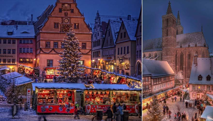 Weihnachtsmarkt im bayerischen Rothenburg ob der Tauber