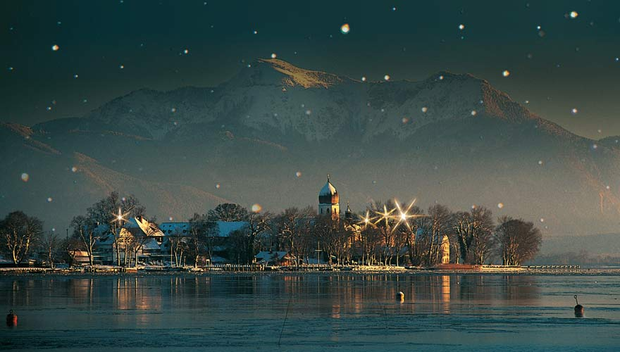 Christkindlmarkt auf der Fraueninsel, Chiemsee