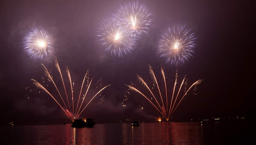Feuerwerk beim Silvesterzauber in Zürich