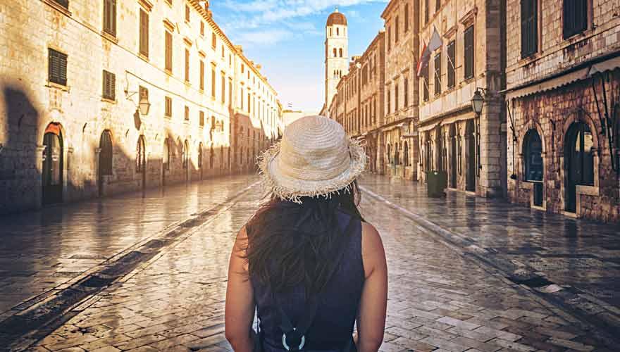 Dubrovnik ist eine schöne europäische Stadt