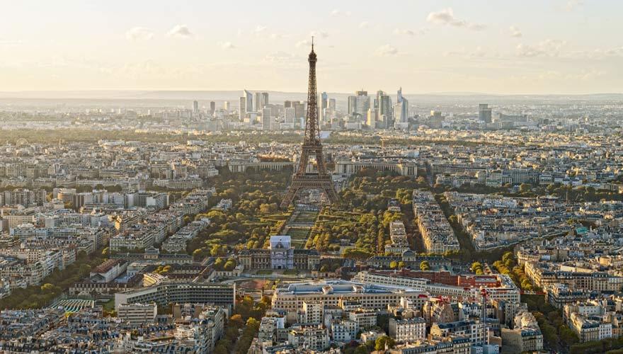 Panorama von der schönen Stadt Paris