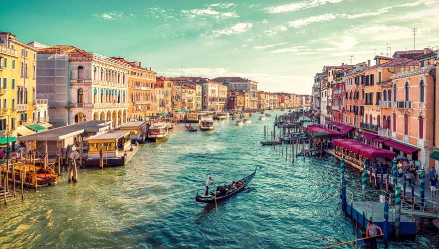 Venedig ist eine schöne Stadt in Europa