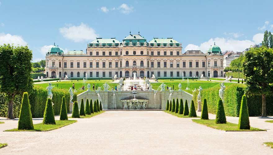 Schloss Belvedere in Wien Österreich
