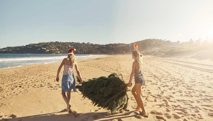 Weihnachtsbrauch in Australien ist ein Besuch am Strand