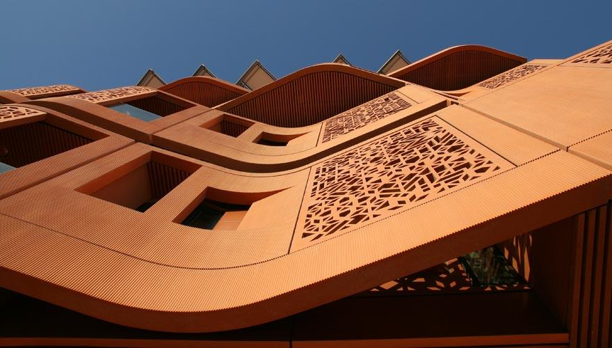 Fassade in Masdar City in Abu Dhabi