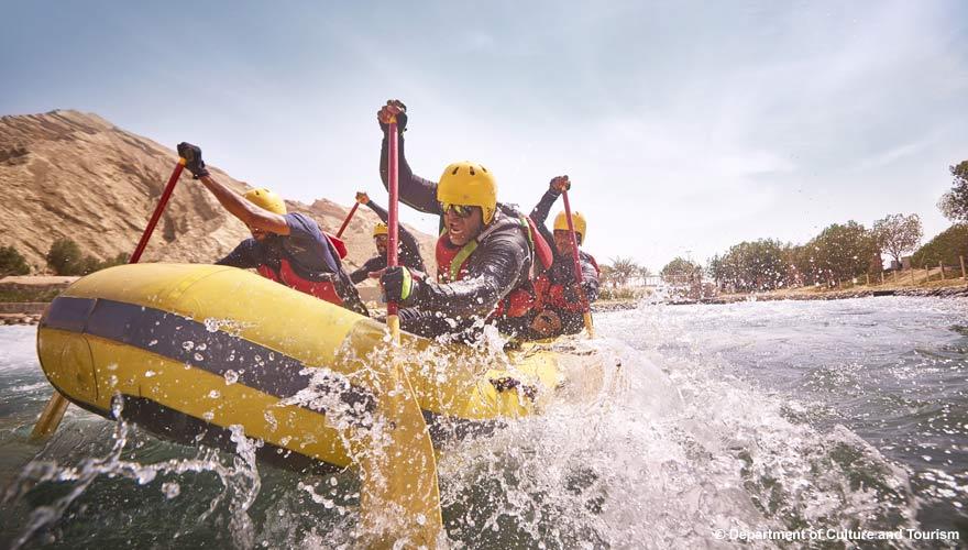 Wadi Adventure Rafting in Abu Dhabi