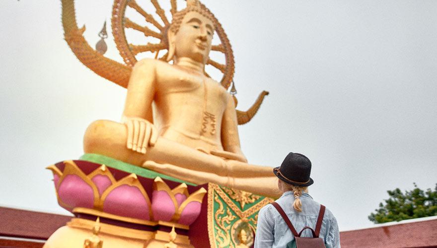 Der Big Buddha ist eine der beliebtesten Sehenswürdigkeiten auf Koh Samui