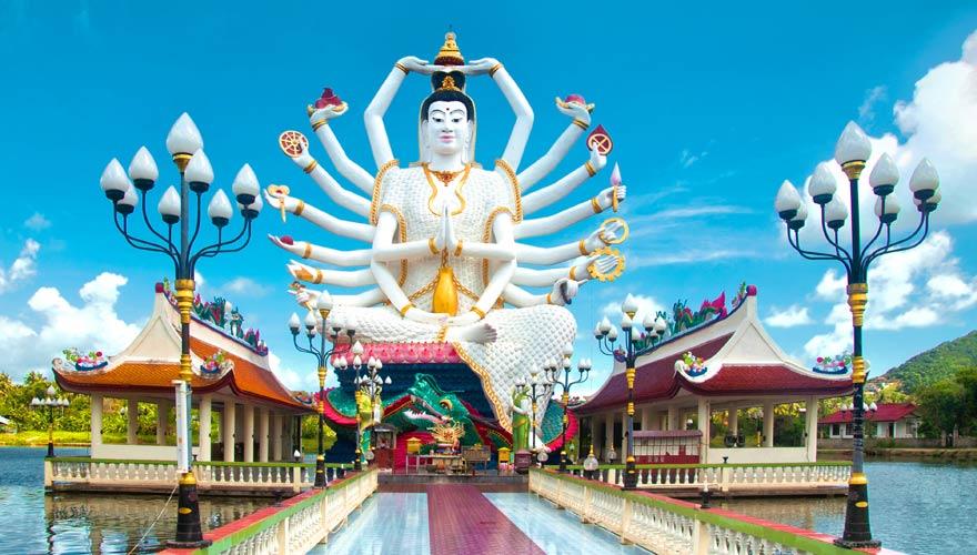 Der chinesische Tempel Kuan Yin auf Koh Samui