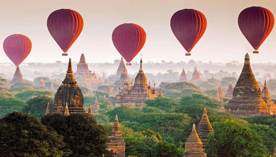 Das ehemalige Königreich Bagan in Myanmar sieht aus wie einem Traum entsprungen