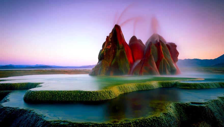 Der Fly Geyser in Nevada ist ein Naturwunder