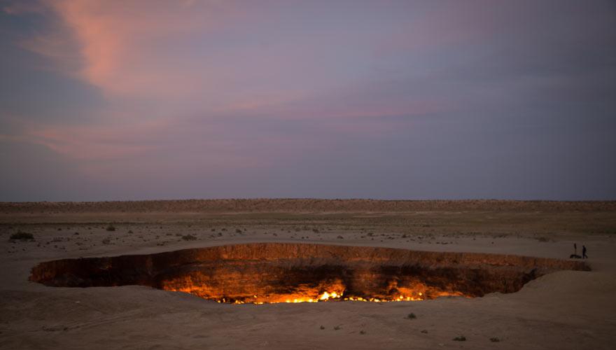 Tor zur Hölle in Turkmenistan