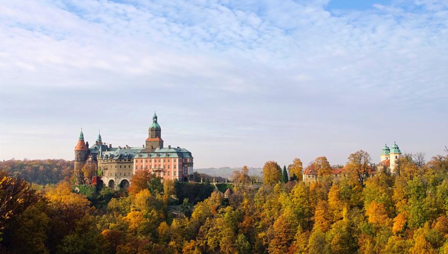 Schloss Fürstenstein in Polen - eine der Top-Sehenswürdigkeiten