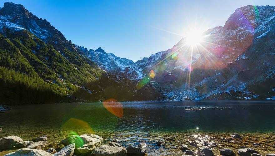 Der Meerauge-See in den Hohen Tatra