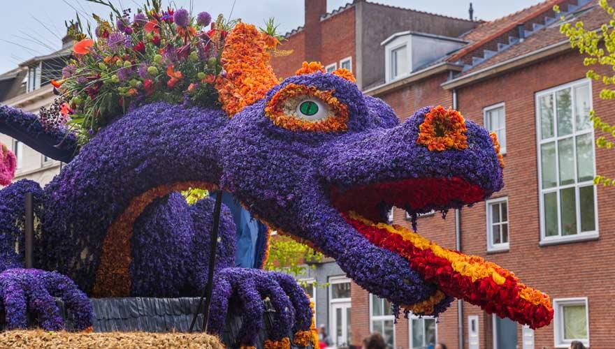 Blumenparade im holländischen Holland
