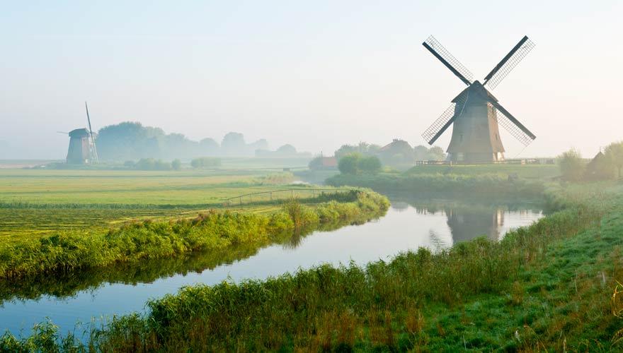 Windmühle in Schermer in den Niederlanden